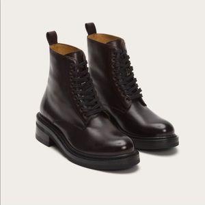 Frye Alice leather combat boot